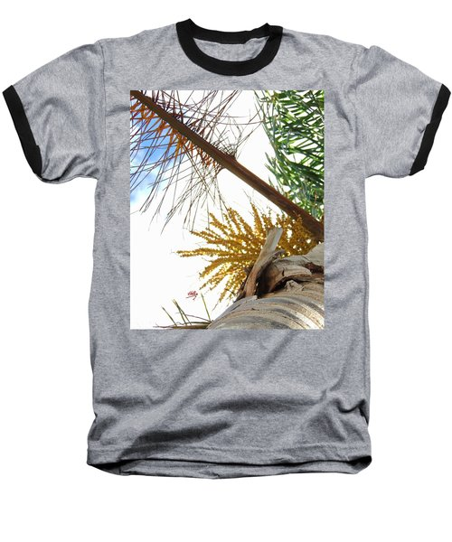 Baseball T-Shirt featuring the photograph Palm Sky View by Linda Hollis