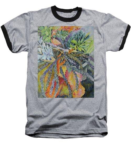 Palm Springs Cacti Garden Baseball T-Shirt