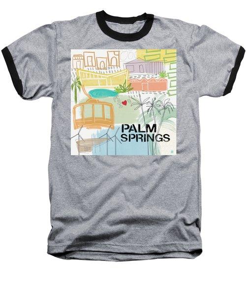 Palm Springs Cityscape- Art By Linda Woods Baseball T-Shirt