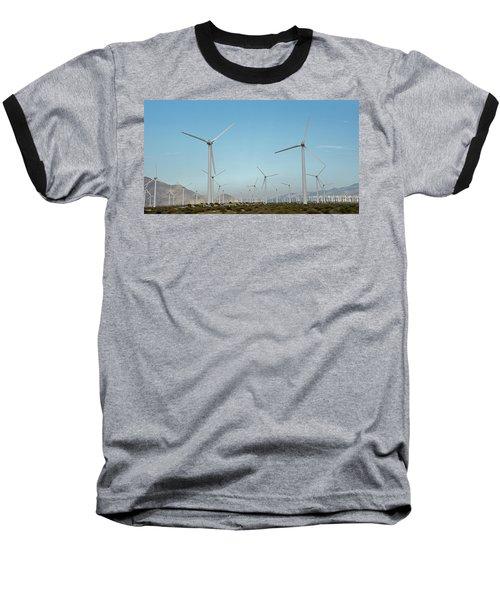 Palm Springs Windfarm Baseball T-Shirt