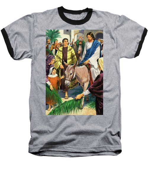 Palm Sunday Baseball T-Shirt by Clive Uptton