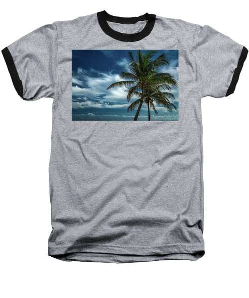 Palm Tree Against The Sky Baseball T-Shirt