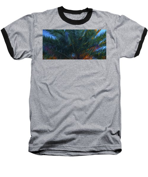 Palm Tree In The Sun Baseball T-Shirt by Glenn Gemmell