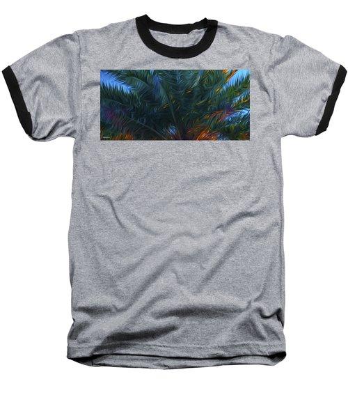 Palm Tree In The Sun Baseball T-Shirt