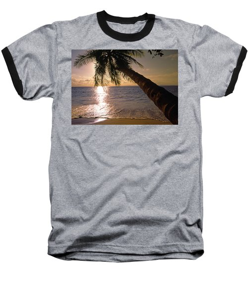 Palm Tree Over The Beach In Costa Rica Baseball T-Shirt