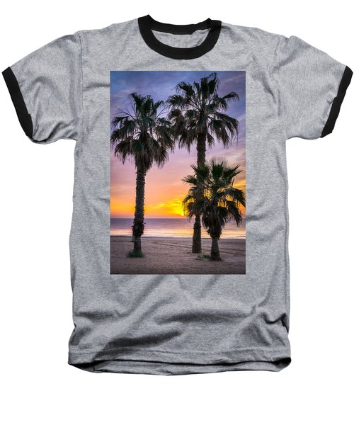Palm Tree Sunrise. Baseball T-Shirt