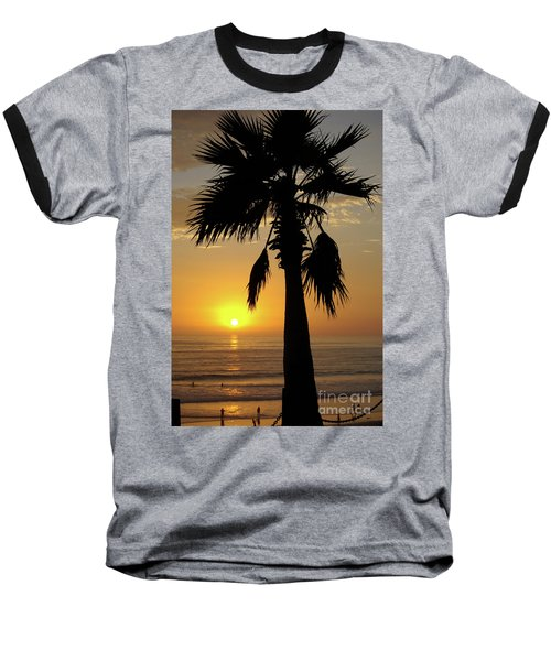 Palm Tree Sunset Baseball T-Shirt