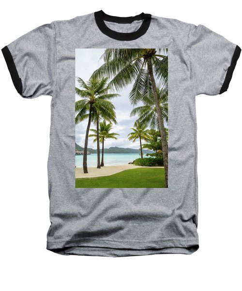 Palm Trees 1 Baseball T-Shirt by Sharon Jones