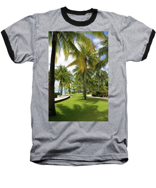 Palm Trees 2 Baseball T-Shirt by Sharon Jones