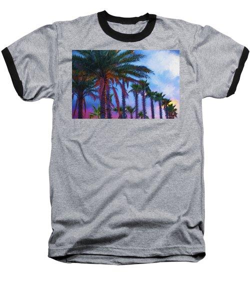 Palm Trees 3 Baseball T-Shirt by Glenn Gemmell