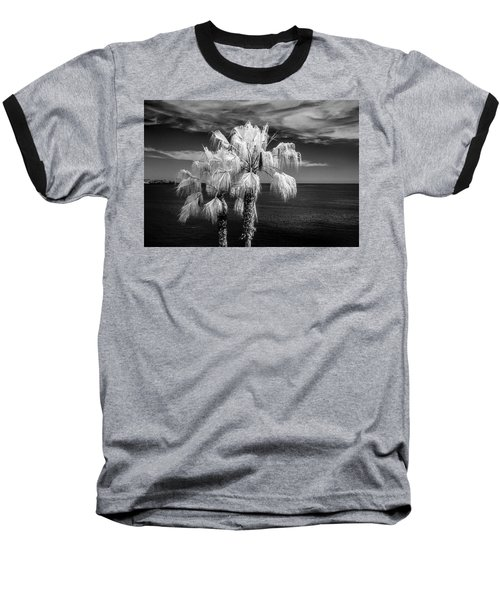 Baseball T-Shirt featuring the photograph Palm Trees At Laguna Beach In Infrared Black And White by Randall Nyhof