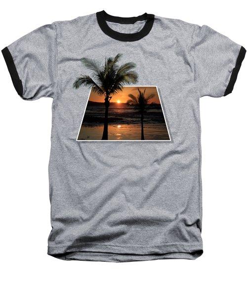 Palm Trees At Sunset Baseball T-Shirt by Shane Bechler