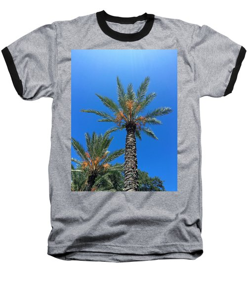 Palm Trees Baseball T-Shirt by Kay Gilley