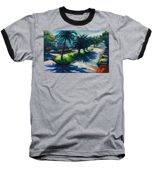 Palm Trees Baseball T-Shirt by Rick Nederlof
