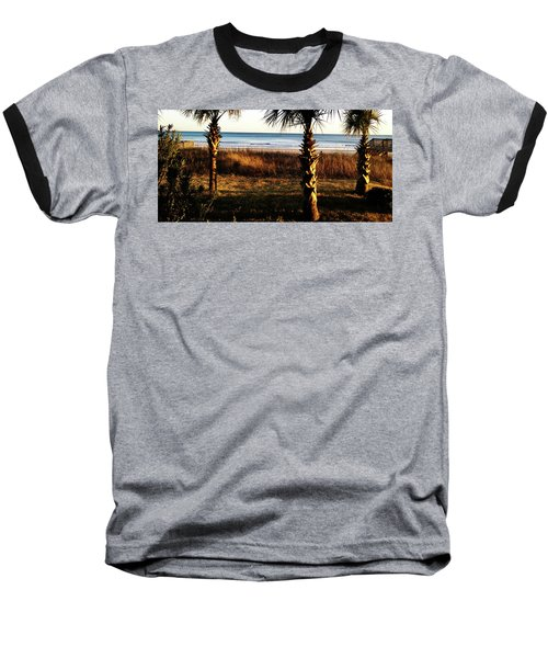 Baseball T-Shirt featuring the photograph Palm Triangle by Robert Knight