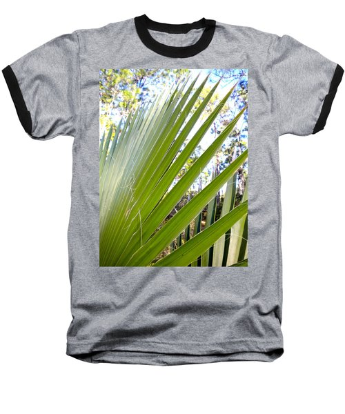 Baseball T-Shirt featuring the painting Palmetto 1 by Renate Nadi Wesley