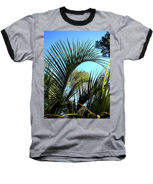 Baseball T-Shirt featuring the painting Palmetto 2 by Renate Nadi Wesley