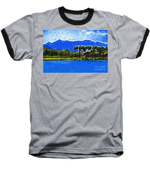 Palms And Mountains Baseball T-Shirt by Kirt Tisdale