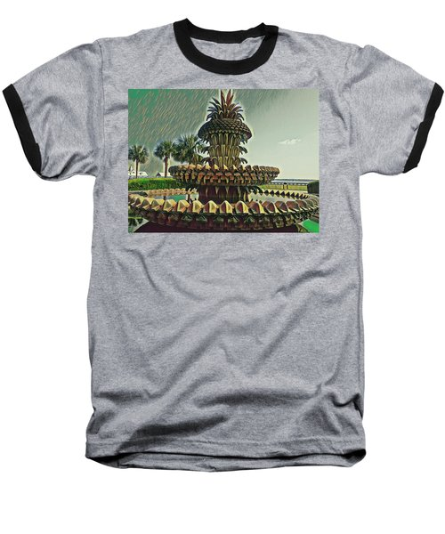 Palms And Pineapples Baseball T-Shirt