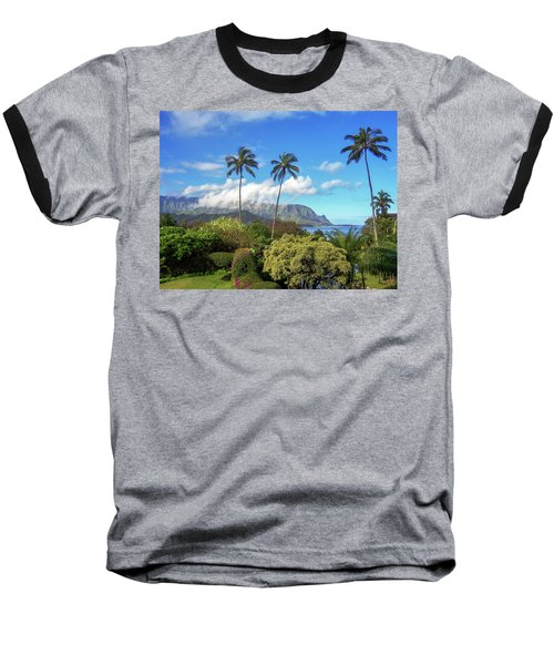 Palms At Hanalei Baseball T-Shirt by James Eddy