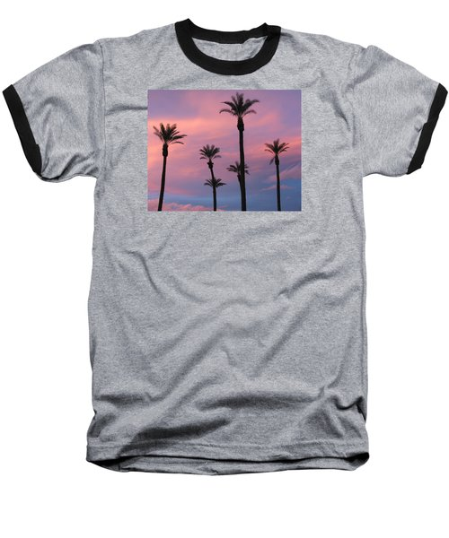 Baseball T-Shirt featuring the photograph Palms At Sunset by Phyllis Kaltenbach