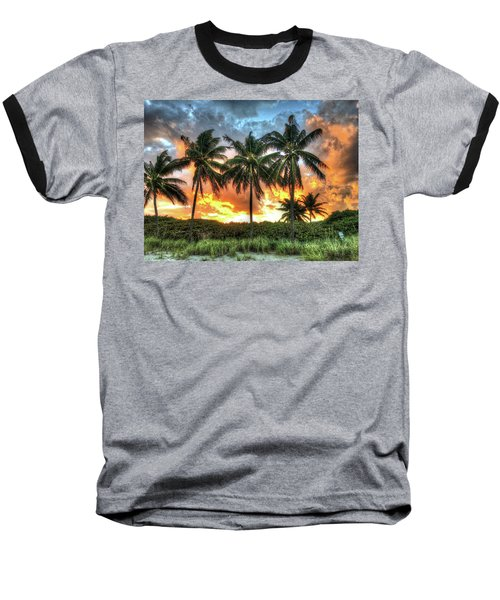 Baseball T-Shirt featuring the photograph Palms On Fire by Steven Lebron Langston