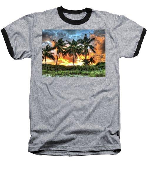 Palms On Fire Baseball T-Shirt