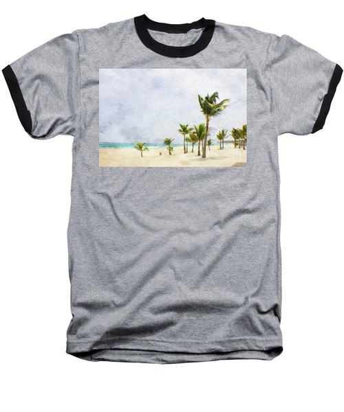 Palmtrees In Punt Cana Baseball T-Shirt