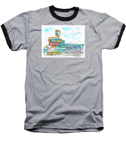 Palomino Motel In Route 66, Tucumcari, New Mexico Baseball T-Shirt