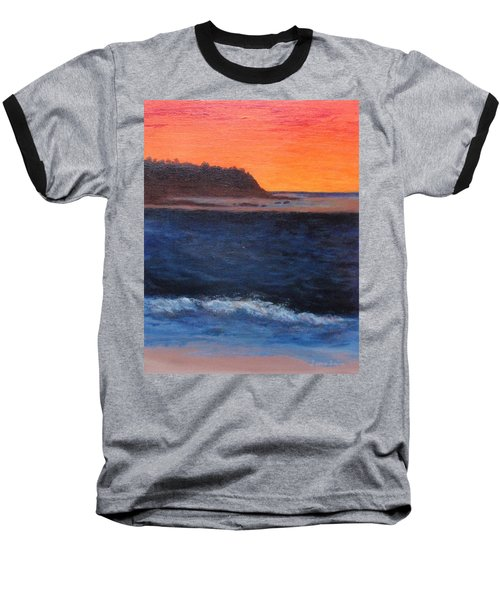 Baseball T-Shirt featuring the painting Palos Verdes Sunset by Jamie Frier