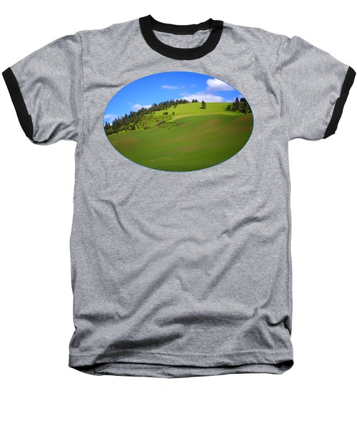 Palouse - Landscape - Transparent Baseball T-Shirt