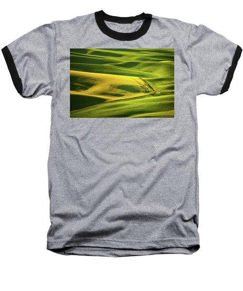 Baseball T-Shirt featuring the photograph Palouse Shades Of Green by Dan Mihai