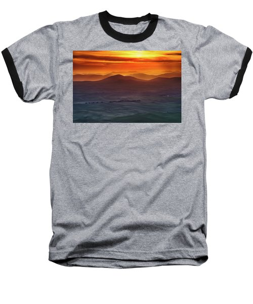 Palouse Sunrise  Baseball T-Shirt by Ronald Spencer