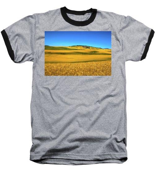 Palouse Wheat Field Baseball T-Shirt