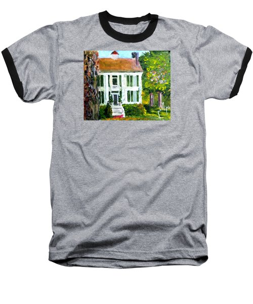 Baseball T-Shirt featuring the painting Palto Alto Plantation Up Close by Jim Phillips