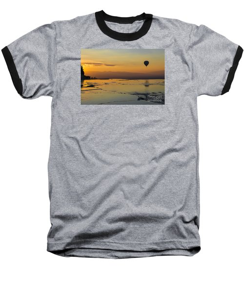 Pammukale Sunset Baseball T-Shirt by Yuri Santin
