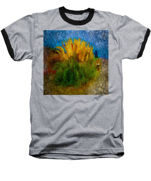 Pampas Grass Baseball T-Shirt by Iowan Stone-Flowers