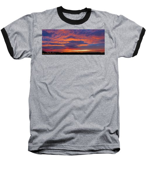 Pana 53rd Ave Sunrise Baseball T-Shirt by Kimo Fernandez