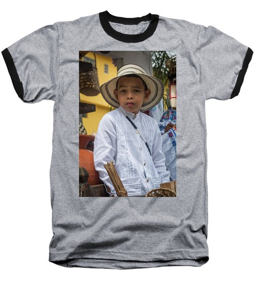 Panamanian Boy On Float In Parade Baseball T-Shirt