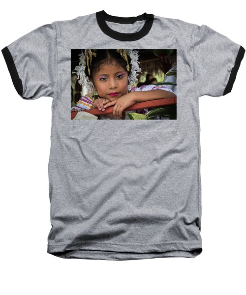 Panamanian Girl On Float In Parade Baseball T-Shirt
