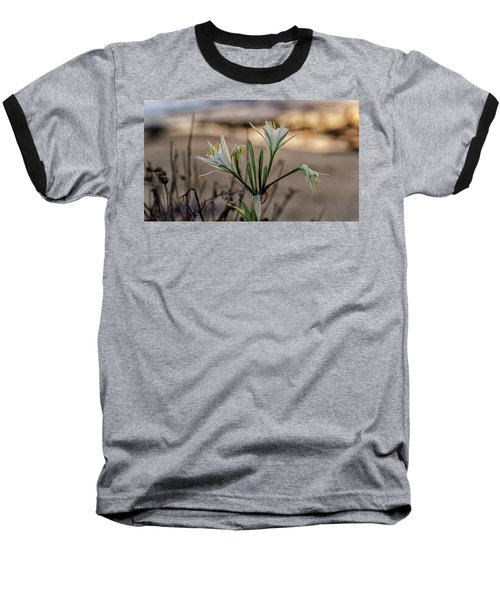 Baseball T-Shirt featuring the photograph Pancratium Maritimum L. by Uri Baruch