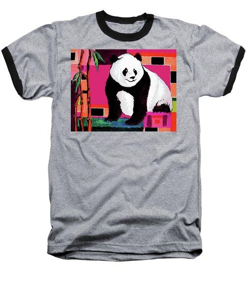 Panda Abstrack Color Vision  Baseball T-Shirt
