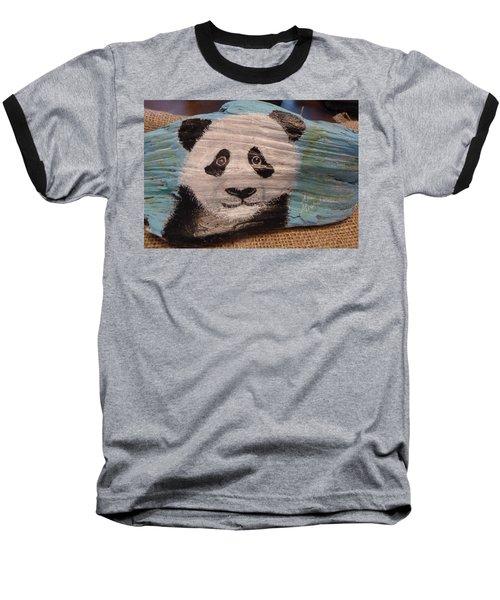 Panda Baseball T-Shirt by Ann Michelle Swadener