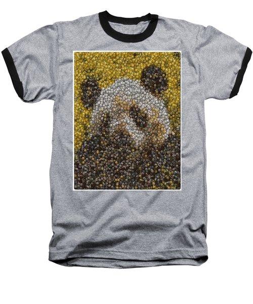 Baseball T-Shirt featuring the digital art Panda Coin Mosaic by Paul Van Scott