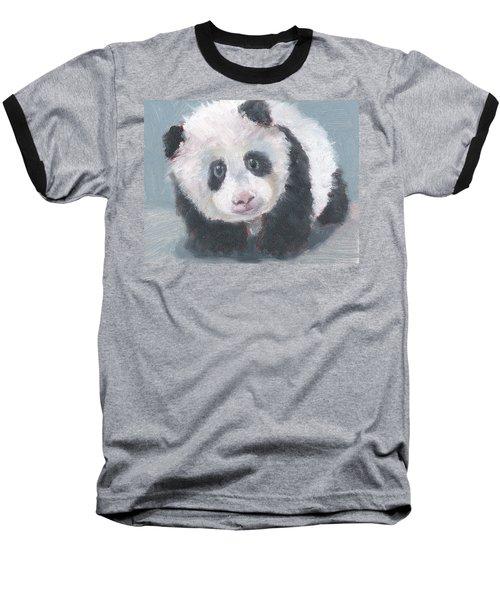Baseball T-Shirt featuring the painting Panda For Panda by Jessmyne Stephenson