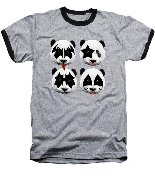 Panda Kiss  Baseball T-Shirt