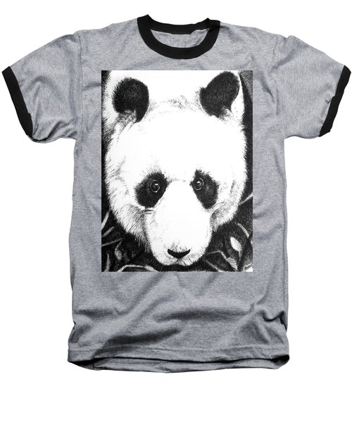 Panda Portrait Baseball T-Shirt