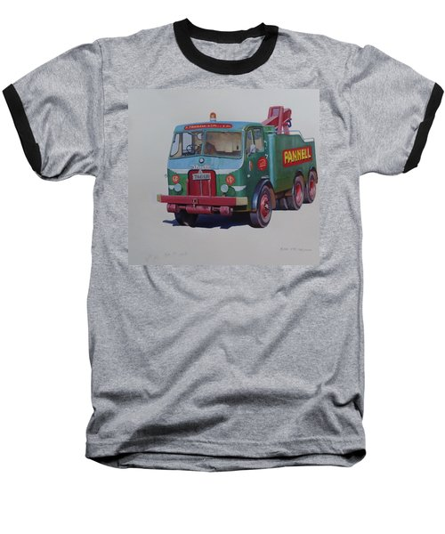 Baseball T-Shirt featuring the painting Pannell Leyland Wrecker. by Mike Jeffries
