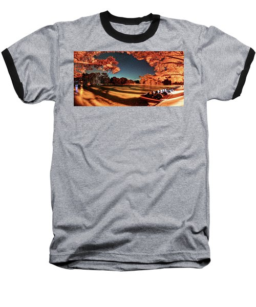 Panorama Of A Starry Night Over The Frio River - Garners State Park - Texas Hill Country Baseball T-Shirt