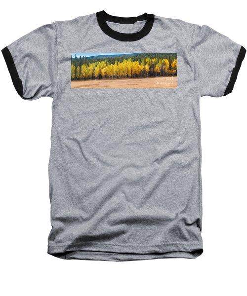 Panorama Of Aspen Grove Fall Foliage Peak To Peak Highway - Rocky Mountains Colorado State Baseball T-Shirt